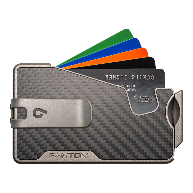 Fantom R 13 Carbon Fibre Wallet - Silver Money Clip