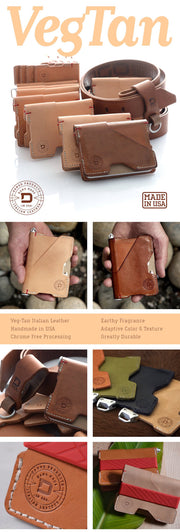 Dango P01 Pioneer Wallet & Dango Pen (Natural Veg Tan) - Adaptive Colour & Texture