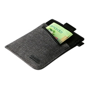 Loft of Cambie Wolyt Sleeve with RFID Shield (Heather Black) - Cash Slot