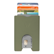 Walter Stack & Slide Aluminium Card Wallet (Olive Green) - Front View