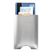 Walter Stack & Slide Aluminium Card Wallet (Raw Silver) - Back View