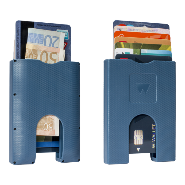 Stack & Slide ABS Card Wallet (True Blue)