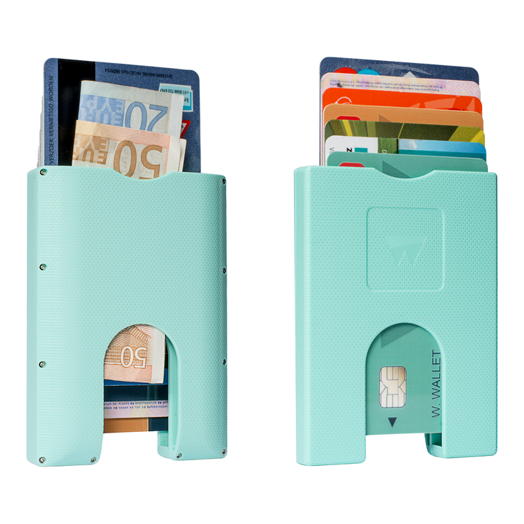 Walter Stack & Slide ABS Card Wallet (Fresh Mint) - Front & Back View