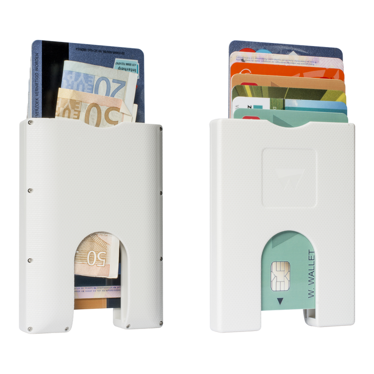 Walter Stack & Slide ABS Card Wallet (Bright White) - Front & Back View