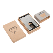 Walter Stack & Slide Aluminium Card Wallet (Raw Silver) - Packaging Open
