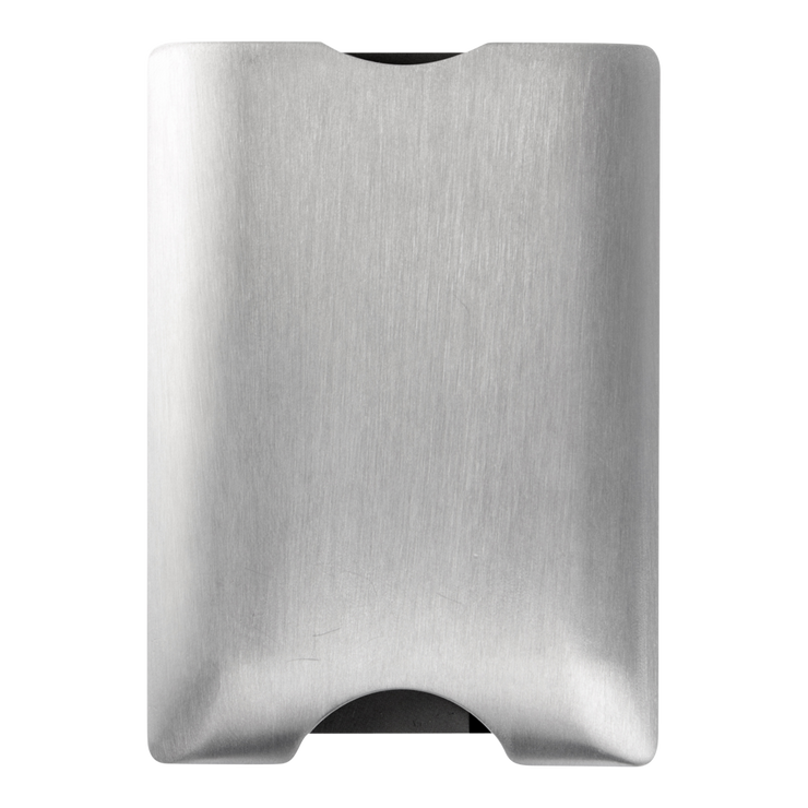 Walter Stack & Slide Aluminium Card Wallet (Raw Silver) - Back Closed
