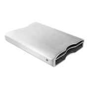 Walter Stack & Slide Aluminium Card Wallet (Raw Silver) - Stack & Slide