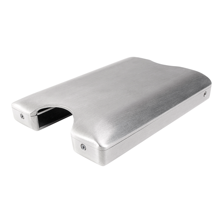 Walter Stack & Slide Aluminium Card Wallet (Raw Silver) - Anti Skimming