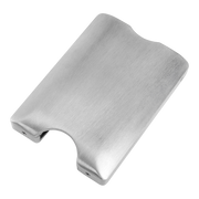 Walter Stack & Slide Aluminium Card Wallet (Raw Silver) - RFID Shield