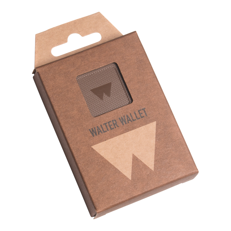 Walter Stack & Slide ABS Card Wallet (Paper Brown) - Packaging Front