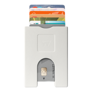 Walter Stack & Slide ABS Card Wallet (Bright White) - Front View