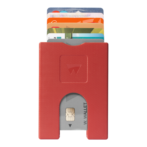 Walter Stack & Slide ABS Card Wallet (Jet Red) - Front View