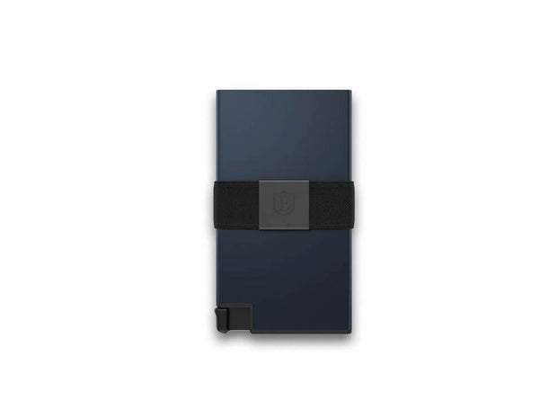 Ekster Aluminium Card Holder Wallet (Midnight Blue) - Front View