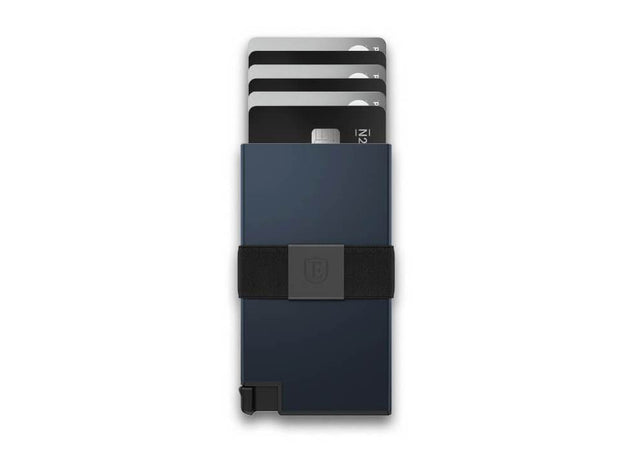 Ekster Aluminium Card Holder Wallet (Midnight Blue) - Cards Fanned