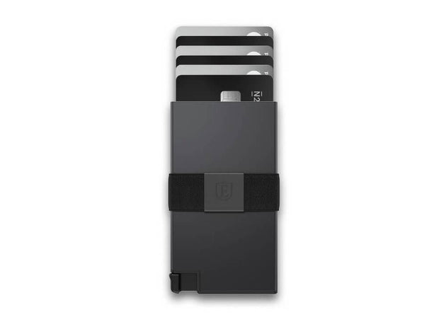 Ekster Aluminium Card Holder Wallet (Space Grey) - Cards Fanned