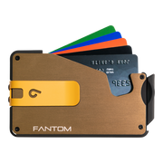 Fantom S 13 Coin Holder Aluminium Wallet (Gold) - Yellow Money Clip