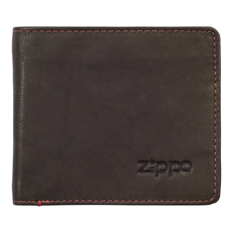 Zippo Leather Bifold Wallet (Mocha) - Front View