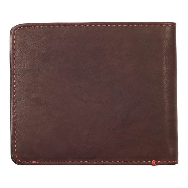 Zippo Leather Bifold Wallet (Brown) - Closed View