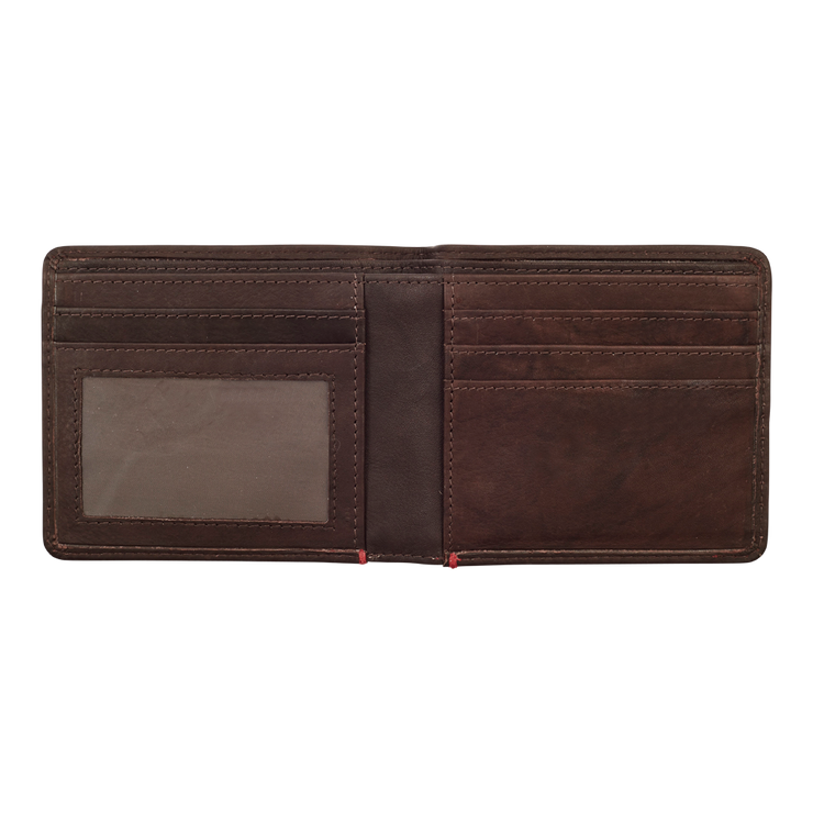 Zippo Leather Bifold Wallet (Brown) - Open View