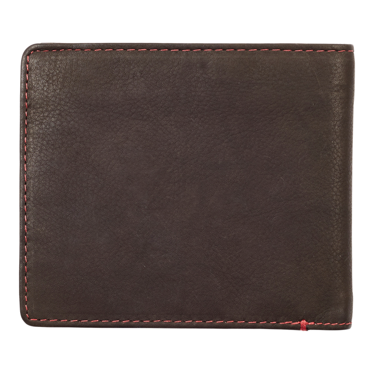 Zippo Leather Bifold Coin Pocket Wallet (Mocha) - Back View