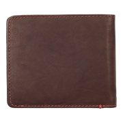 Zippo Leather Bifold Coin Pocket Wallet (Brown) - Back View