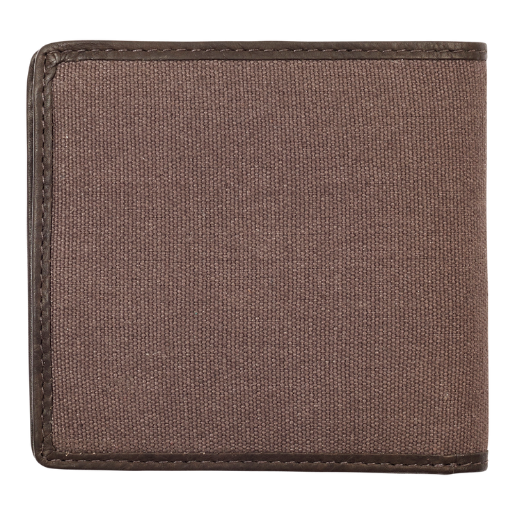 Zippo Leather & Canvas Bifold Coin Pocket Wallet - Back View