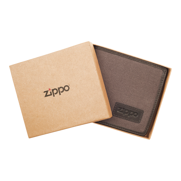Zippo Leather & Canvas Bifold Coin Pocket Wallet - Packaging