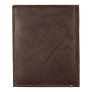 Zippo Leather Vertical Wallet (Mocha) - Back View