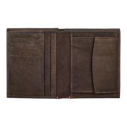 Zippo Leather Vertical Wallet (Mocha) - Open View