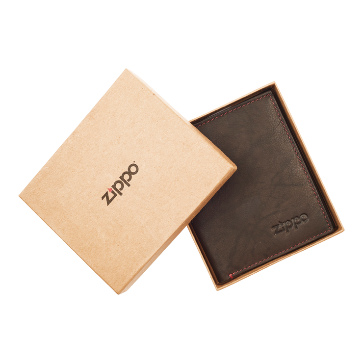 Zippo Leather Vertical Wallet (Mocha) - Packaging