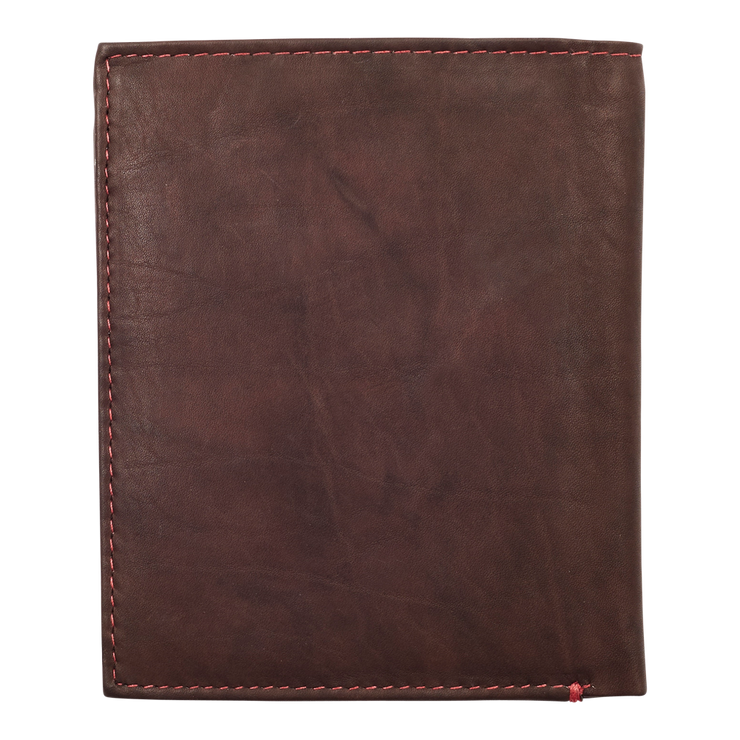Zippo Leather Vertical Wallet (Brown) - Back View
