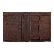 Zippo Leather Vertical Wallet (Brown) - Open View