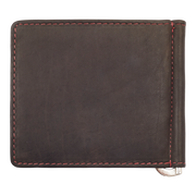 Zippo Leather Bifold Money Clip Wallet (Mocha) - Back View