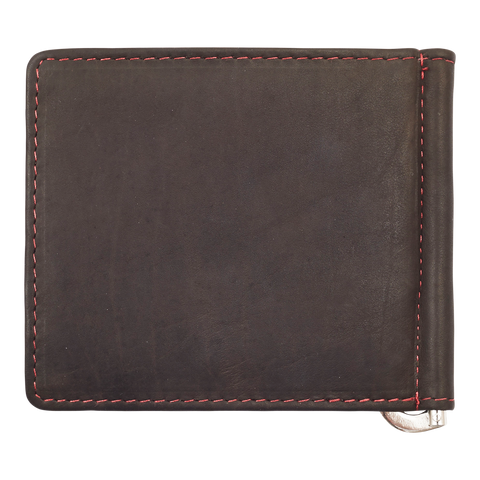 Zippo Leather Bifold Money Clip Wallet (Mocha) - Front View