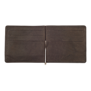 Zippo Leather Bifold Money Clip Wallet (Mocha) - Open View