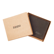 Zippo Leather Bifold Money Clip Wallet (Mocha) - Packaging