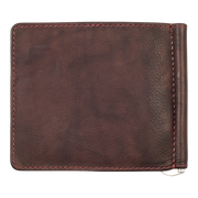 Zippo Leather Bifold Money Clip Wallet (Brown) - Back View