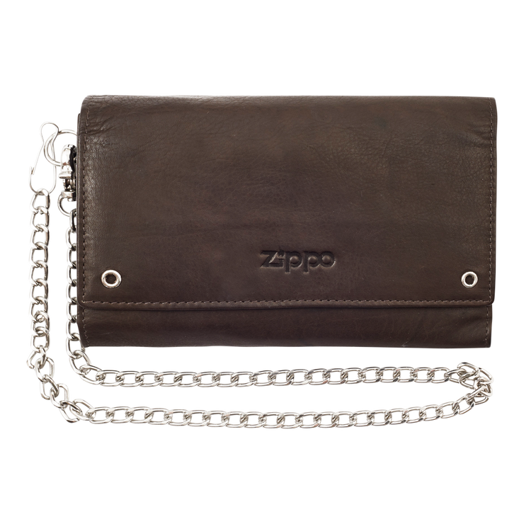 Zippo Leather Biker Wallet - Front View