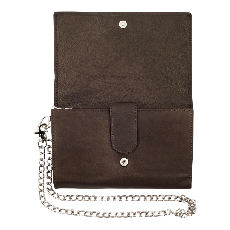 Zippo Leather Biker Wallet - Metal Chain