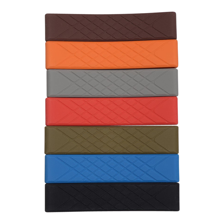 Dango Silicone Wallet Band (Bright Orange) - Series Front View