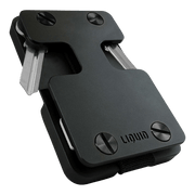 Liquid Carry Aluminium Wallet (Matte Black / Black Screws) - Front View
