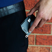 Liquid Carry Aluminium Wallet (Matte Black / Black Screws) - Keyring Attachment