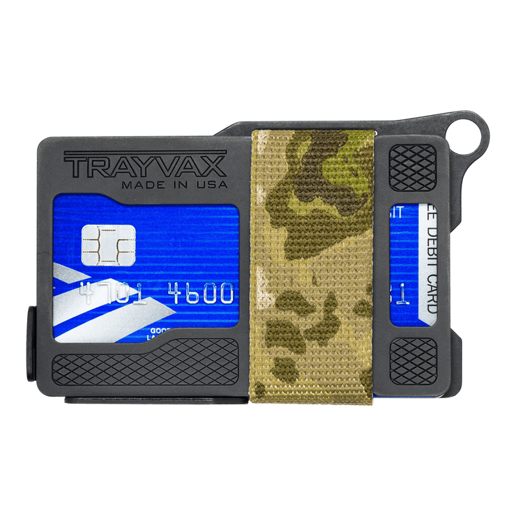 Trayvax Armored Summit Wallet (Forest Camo) - Front View