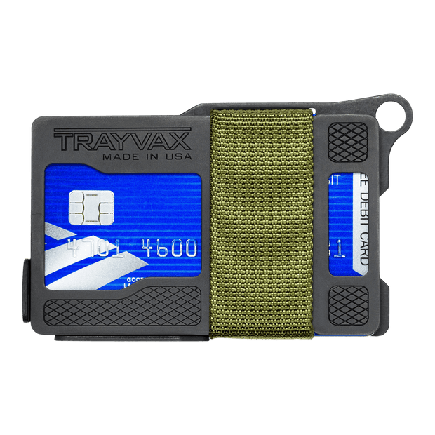 Trayvax Armored Summit Wallet (OD Green) - Front View