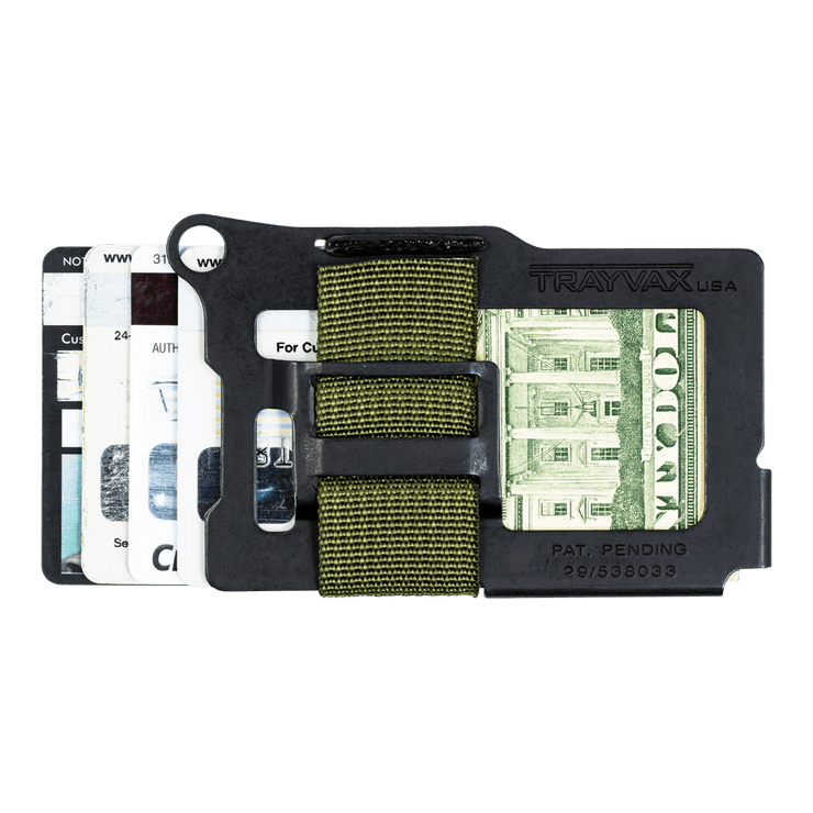 Trayvax Armored Summit Wallet (OD Green) - Back View