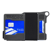 Trayvax Armored Summit Wallet (Shadow Black) - Front View
