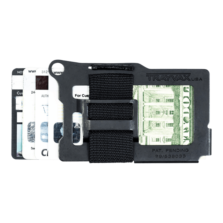 Trayvax Armored Summit Wallet (Shadow Black) - Back View