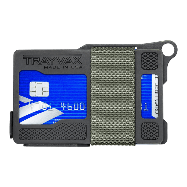 Trayvax Armored Summit Wallet (Stone Grey) - Front View