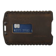 Trayvax Ascent Wallet (Black Metal/Mississippi Mud Leather) - Front View