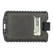 Trayvax Ascent Wallet (Black Metal/Steel Grey Leather) - Back View